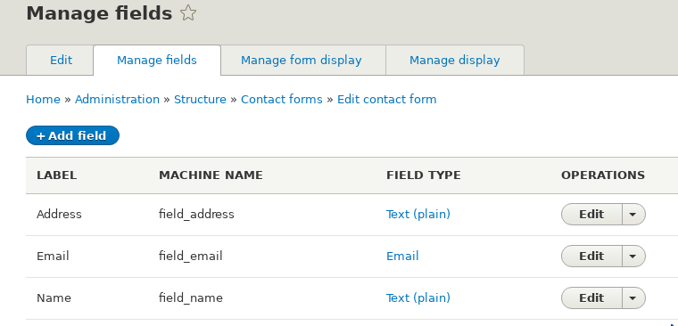 Drupal 8 step by step: contact forms