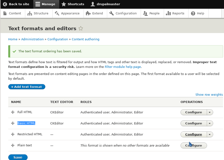 Drupal 8: the editor